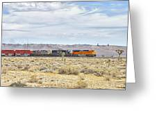Bnsf 9112 Westbound From Boron Greeting Card