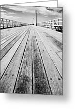 Boardwalk Of Distance Greeting Card
