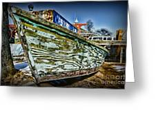 Boat Forever Dry Docked Greeting Card