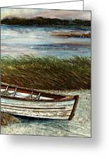 Boat On Shore Greeting Card