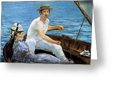 Boating Greeting Card by Edouard Manet