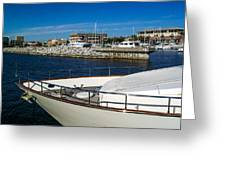 Boats In Port Greeting Card