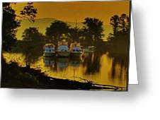 Boats On Bowline Pond Greeting Card