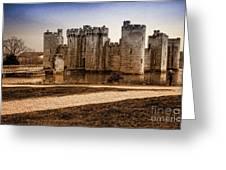 Bodiam Castle Greeting Card by Donald Davis