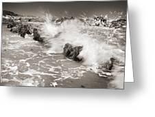 Bolonia Waves Greeting Card