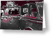 Bonnie And Clyde Death Car South Of Gibsland Toward Sailes Louisiana May 23 1933-2013 Greeting Card