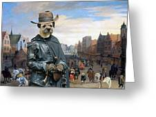 Border Terrier Art Canvas Print Greeting Card