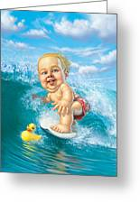 Born To Surf Greeting Card