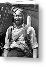 Boston Airport Chinese Aviator Greeting Card