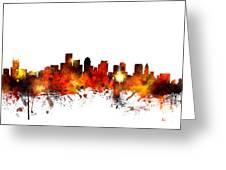 Boston Massachusetts Skyline Greeting Card by Michael Tompsett