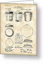 Bottle Cap Patent 1892 - Vintage Greeting Card