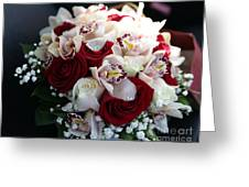Bouquets Of Flowers For The Bride To The Wedding Greeting Card