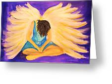 Bowing Angel Greeting Card