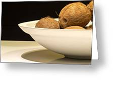 Bowl Of Coconuts Greeting Card