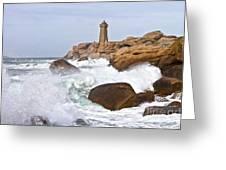 Breaking Of Waves Greeting Card