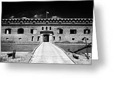Bridge Across The Moat Sally Port Entrance To Fort Jefferson Dry Tortugas National Park Florida Keys Greeting Card