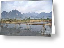 Bridge In Vang Vieng Laos Greeting Card
