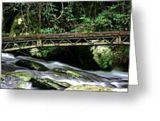 Bridge Over Mountain Stream Greeting Card