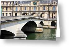 Bridge Over The Seine Greeting Card