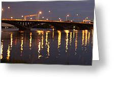 Bridge Over Water Greeting Card by Jocelyne Choquette