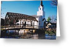 Bridge Over Water Greeting Card