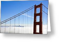 Bridge To The City In The Clouds Greeting Card by Darren Patterson