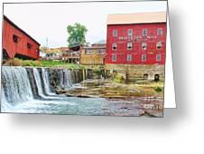Bridgeton Mill And Covered Bridge Greeting Card