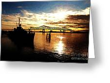 Bright Time On The River Greeting Card