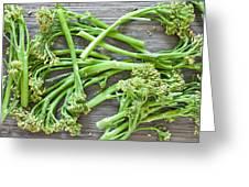 Broccoli Stems Greeting Card