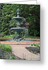 Bronze Fountain Annapolis Greeting Card