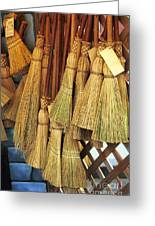 Brooms For Sale Greeting Card