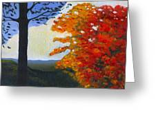 Brown County Indiana Greeting Card by Katherine Miller