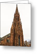 Brownstone Church Greeting Card