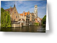 Bruges Canals Greeting Card