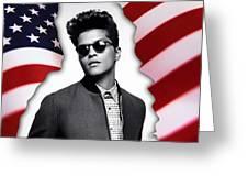 Bruno Mars Greeting Card