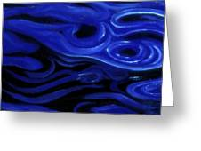 Brush Strokes In Blue Greeting Card