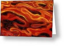 Brush Strokes In Red Greeting Card