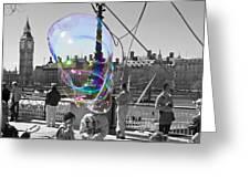 Bubbles Big Ben Greeting Card