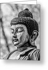 Buddha - Siddhartha Gautama - In Black And White Greeting Card