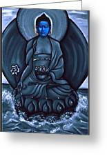 Buddha In Black And White Greeting Card