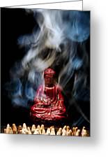 Buddha In Smoke Greeting Card