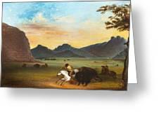 Buffalo Hunt Greeting Card