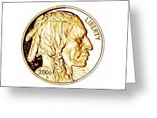 Buffalo Nickel Greeting Card by Fred Larucci