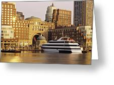 Buildings At The Waterfront, Boston Greeting Card