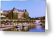 Buildings At The Waterfront, Empress Greeting Card