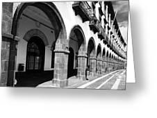 Buildings In Ponta Delgada Greeting Card