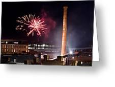 Bull Durham Fireworks Greeting Card by Jh Photos