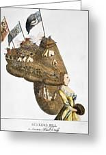 Bunker Hill: Cartoon, 1776 Greeting Card