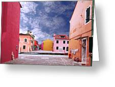Burano 01 Greeting Card by Giorgio Darrigo