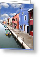 Burano 03 Greeting Card by Giorgio Darrigo